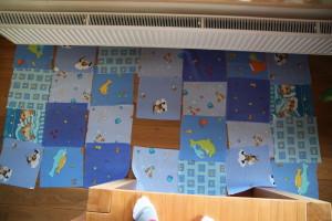 Rozložení bloků látek pro hrací deku