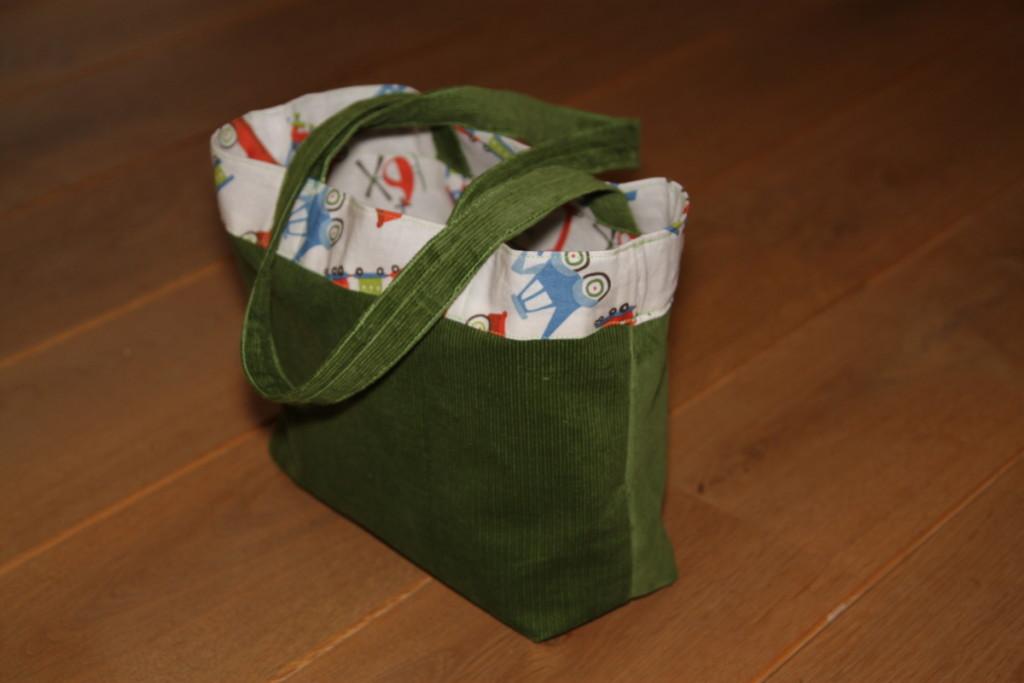 Oboustranná taška do školky - Budilka šije