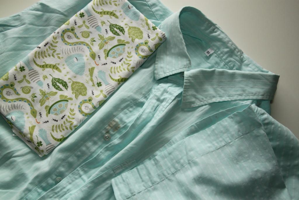 Kolekce oblečení z košile, recyklace - Budilka šije z košiloviny