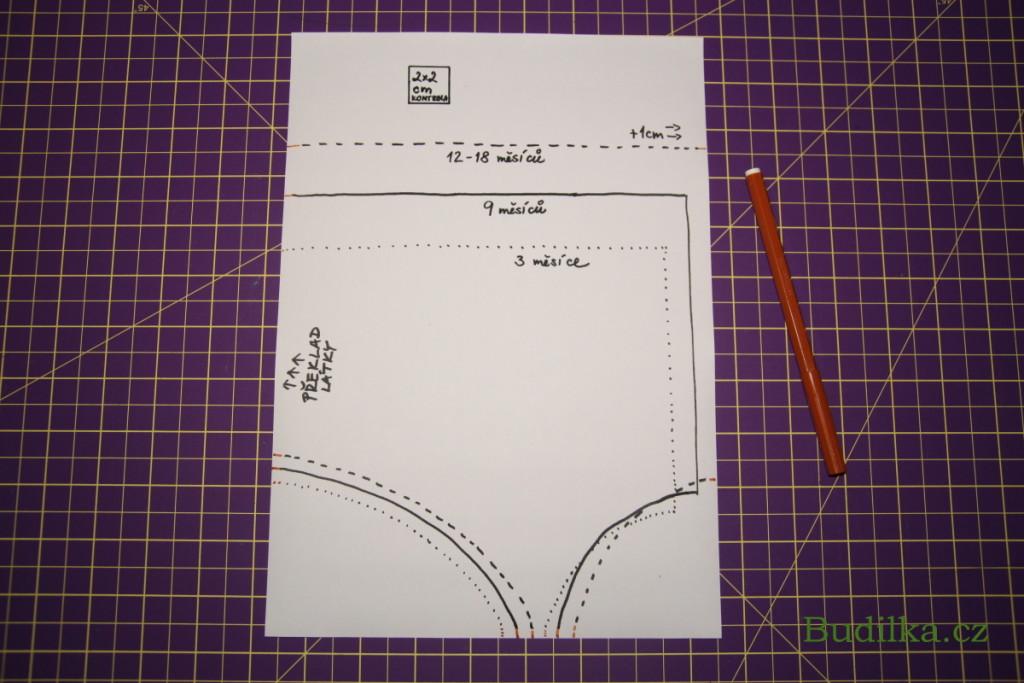 Čepička pro miminko - fotonávod a střih: Budilka