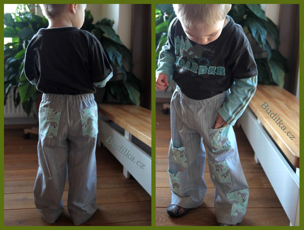 Plátěné kalhoty s kapsami - Budilka.cz - Taku linen pants