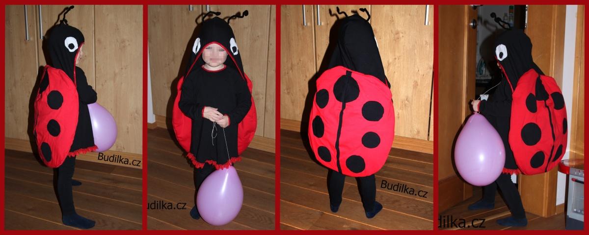 kostým berušky na dětský karneval, ladybug costume - Budilka.cz